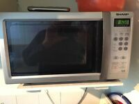 SHARP MICROWAVE SILVER FREESTANDING