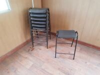 7 brown stool chairs 50 pounds the lot