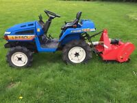 Iseki 125 4WD Compact Tractor with New Flail Mower