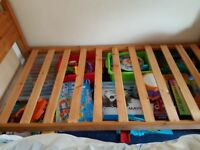 Solid pine single bed. No mattress
