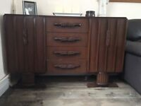 Beautiful vintage solid oak sideboard 40s