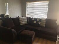 Brown Corner Sofa .. excellent condition