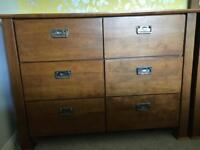 The Pier 6 drawer chest of drawers x 2
