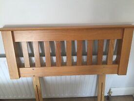Oak slatted headboard - single bed