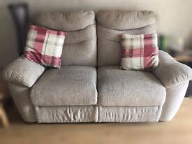 2 x 2 seater reclining sofa for sale