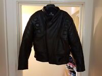 """52"""" Armoured Mens Leather Motorcycle Jacket By Skintan RRP: £130.00"""