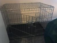 Large metal dog cage / crate