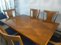 Solid Wood 6 Seater Table and Chairs