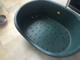 Large dog basket for sale.