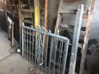 Set Of 10ft Galvanised Steel Gates With Posts Ready To Fit -- Can Deliver
