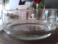 Italian Glass Serving Bowl