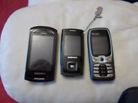 Collection of old style mobile phones