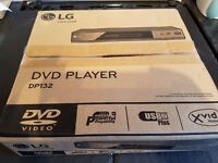 LG dvd player DP132 brand new boxed. unwanted gift.