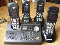 Panasonic KX-TCD340E 4-phone DECT system