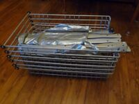 6 Ikea pull out wire baskets (like UTRUSTA)