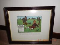 Humorous Framed Golf Picture