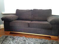 Aubergine twin sofa bed (Reids)