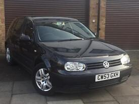 Vw golf 1.6 match petrol 53 plate 2004 met black 135k on the clock good con in and out