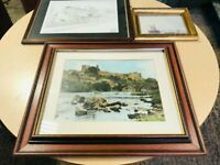 JOB LOT OF 3 WALL FRAMED SCENIC PICTURES