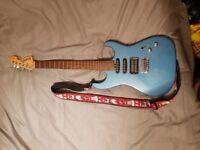 Washburn X-series electric blue guitar