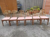 6 Rustic Vintage Dining Chairs FREE DELIVERY 5063