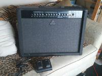 Behringer VT 250 FX 100 Watt Guitar Amplifier with footswitch
