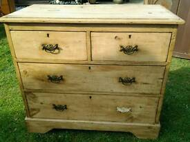 Antique Pine 2 over 2 chest of drawers