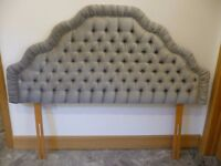 MILLBROOK HEADBOARD GREY DRAYLON KING SIZE