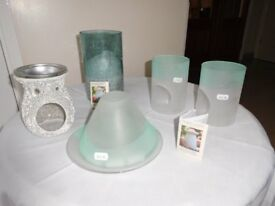 NEW Selection of 5 Yankee Candle Items: Mosaic Wax Burner, Tea Light Holders, Candle Holders