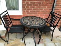 Patio furniture. Table and chairs