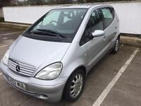 2002 MERCEDES A160 ELEGANCE 1.6 JUNE MOT, ONLY 78,000 MILES, DRIVES GREAT, MANUAL