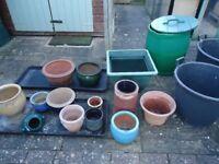 Selection of Garden Pots