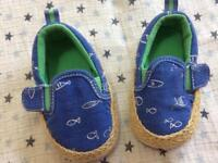 Boys Next summer shoes size 0-3 months