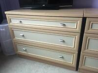 Bedroom drawers light oak effect