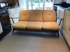 Ercol Windsor 3 Seater Sofa with original upholstered cushions