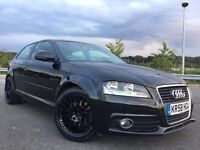2009 AUDI A3 S LINE TFSI LIKE S3 2.0 TURBO WITH 200BHP AND BBS ALLOY WHEELS