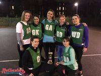 Fun netball league taking place in Camden