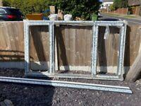 Brand new UPVC window frame - anthracite external, white internal