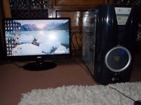 Ultimate (Quad Core) (3.4 Ghz) Gaming Computer (Windows 7 ) (Cost £500)