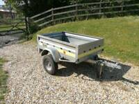 Trailer, Franc 5x3, with cover, tips 500kg rated