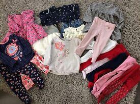 Beautiful baby girl clothing bundle 12-18 months
