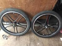 "BMX 20"" aluminium 5 spoke mag wheels"