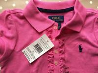 Ralph Lauren girls little ruffle polo shirt (age 3-4)