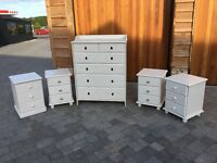 6 Draw Chest of Draws and 4x bedside table - Shabby Chic Annie Sloan