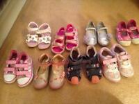 Girls Size 7 shoes - 9 pairs