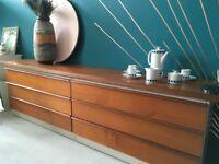 Stylish Mid Century Vintage Sideboard DrawersTeak