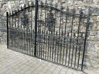 Royale Premier Wrought Iron Style Estate Gates Galvanised