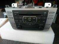Mazda 6 - in-dash stereo with six cd autochanger & mp3 player.