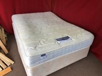 DOUBLE DIVAN BED WITH PILLOW TOP MATTRESS,CAN DELIVER