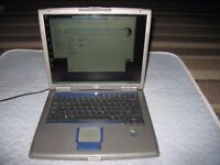 "Dell Inspiron 510m 15"" Laptop 512MB WIFI Intel Pentium M 1.7Ghz 80GBHD CDRW Win7"